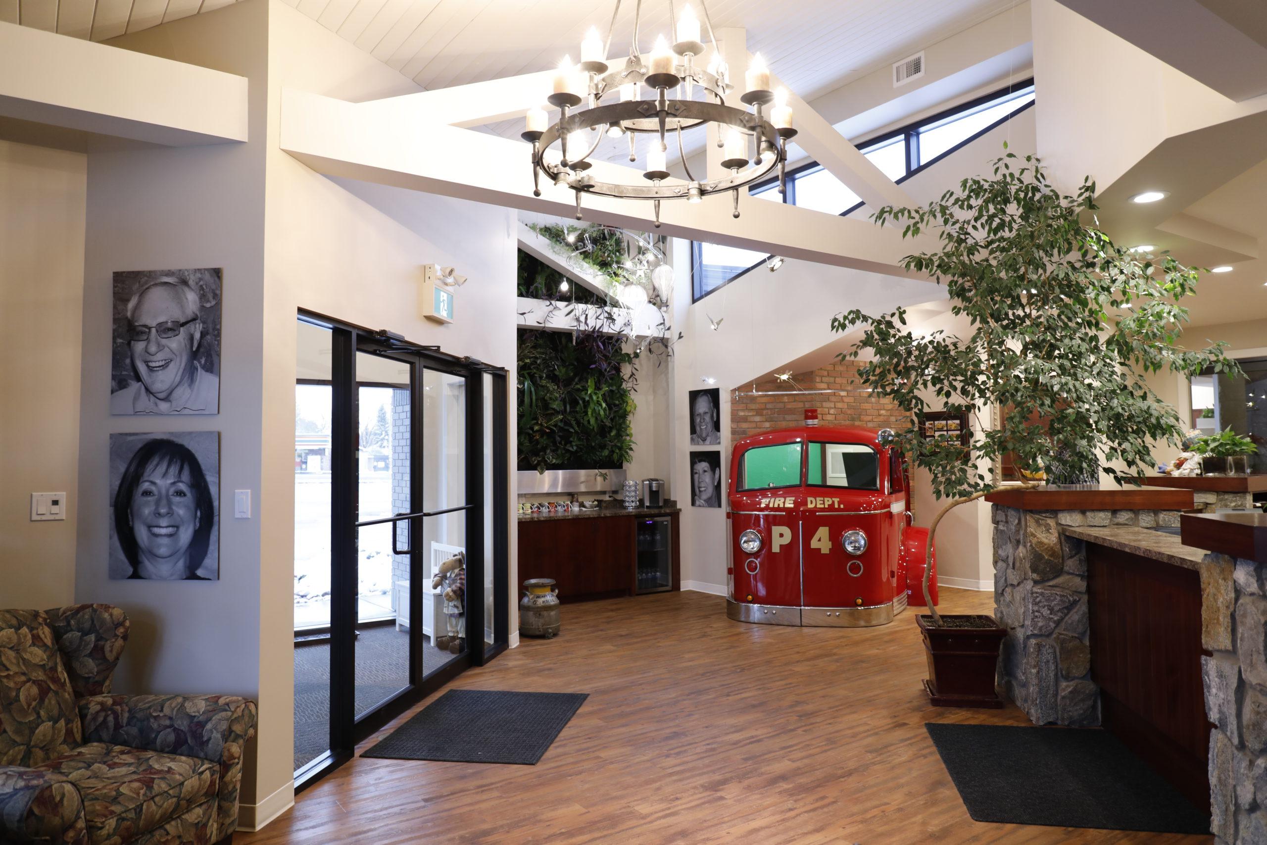 lobby of Lethbridge dentist