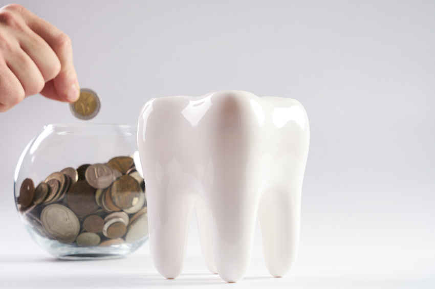 photo of money and tooth