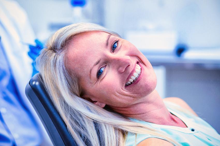 woman getting tmj diagnosis